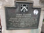 John Foster's coat of arms can also be seen on the front of the Chapel.